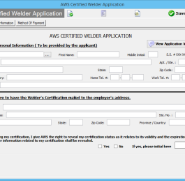 AWS Certified Welders Forms