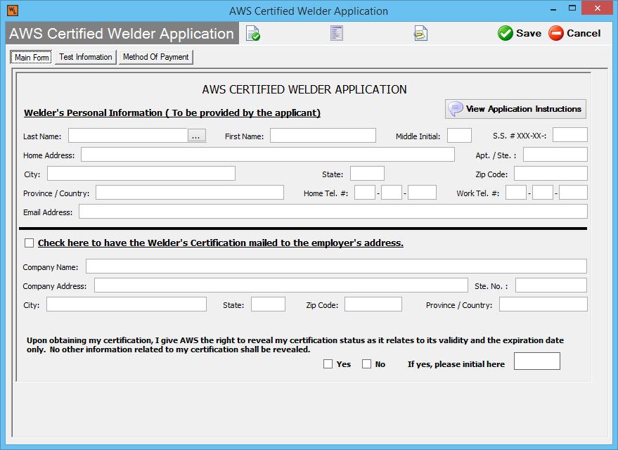 Aws Certified Welders Forms Welders Log